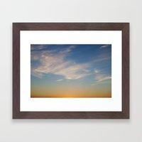 Sunset, July 10th, 2014 Framed Art Print