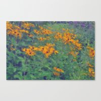 Impressionist Field of Flowers Canvas Print
