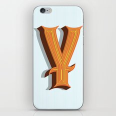 Letter Y iPhone & iPod Skin