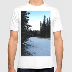 Wintertime in WaterValley White Mens Fitted Tee SMALL
