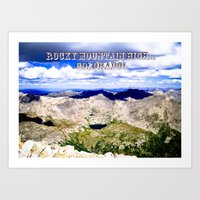 Rocky Mountain HIGH -- Colorado Art Print