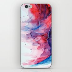 Watercolor magenta & cyan, abstract texture iPhone & iPod Skin