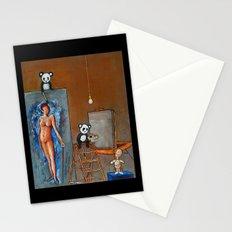Painting Pandas Stationery Cards