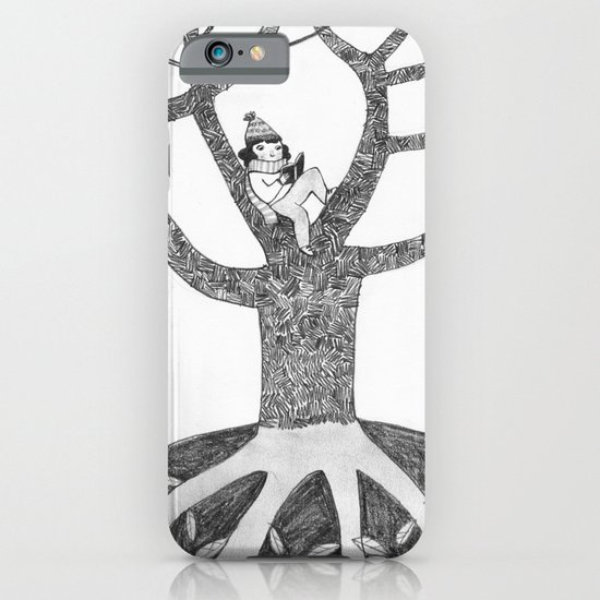 Winter reading iPhone & iPod Case