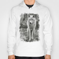 White Wolf in the Forest  Hoody
