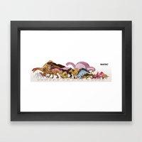 Jurassic Sweet   Deluxe … Framed Art Print