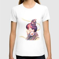 Sweet Dj Womens Fitted Tee White SMALL