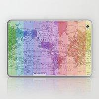 Rainbow World Map II Laptop & iPad Skin