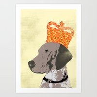 German Shorthaired Pointer Dog Art Print