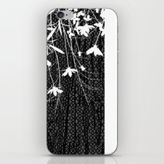 white wildflowers iPhone & iPod Skin