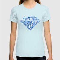 Facets you like Womens Fitted Tee Light Blue SMALL