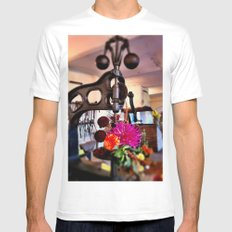 Tools And Flowers Mens Fitted Tee White SMALL