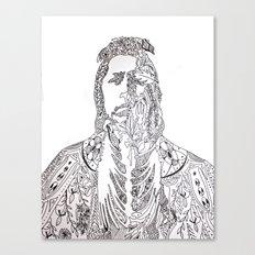 motifs of a portrait Canvas Print