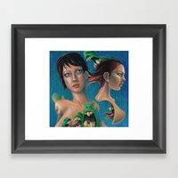 Women And Monsters Framed Art Print
