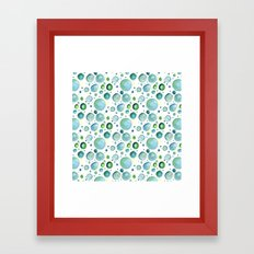 Bubbles Watercolor Framed Art Print