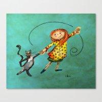 Happy Dancing Canvas Print