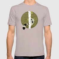 A shy raccoon Mens Fitted Tee Cinder SMALL