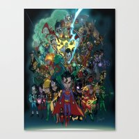 Lil' Super Friends Canvas Print
