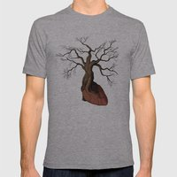 The Love Root Mens Fitted Tee Athletic Grey SMALL