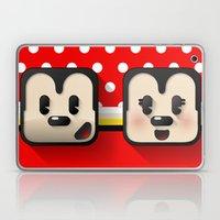 sweethearts, mickey and minnie Laptop & iPad Skin