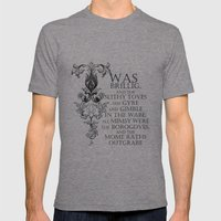 Alice In Wonderland Jabb… Mens Fitted Tee Tri-Grey SMALL