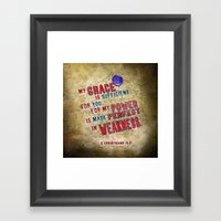 Perfect Power Framed Art Print