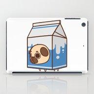 iPad Case featuring Puglie Milk Carton by Puglie