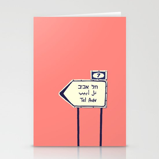 Tel Aviv This way Stationery Card