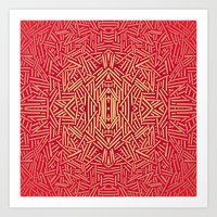 Radiate (Red Yellow Ochr… Art Print