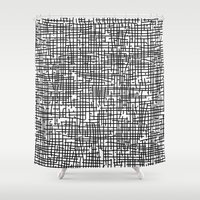 Crosshatch Shower Curtain