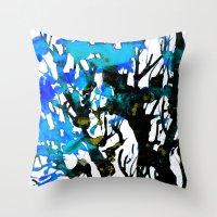 Blue Ash Throw Pillow