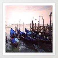 Gondola Venice Italy Travel Photography Art Print