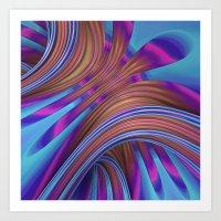 Ride The Swirl Art Print