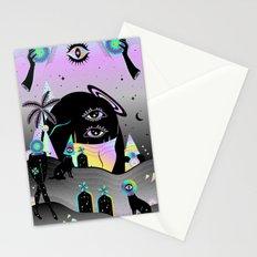 One night on Jupiter Stationery Cards