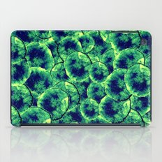 Lime & Navy Watercolor Cells iPad Case