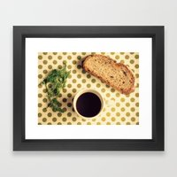 Black Coffee Framed Art Print