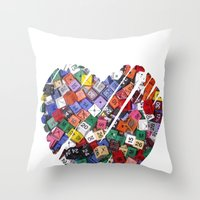 XOX Throw Pillow