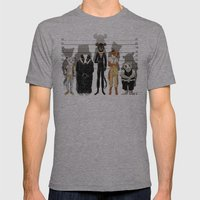 Unusual Suspects Mens Fitted Tee Athletic Grey SMALL