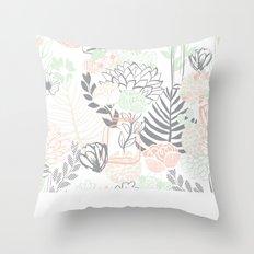 Cucumber Peaches and Cream Mason Jar wedding Throw Pillow