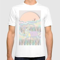 Deer Forest Mens Fitted Tee White SMALL