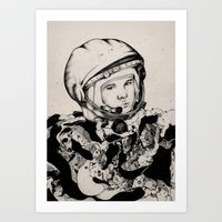 From Gagarin's Point Of View  Art Print
