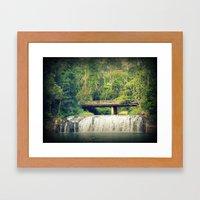 Waterfall At Cairns Framed Art Print