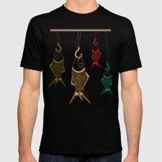 those are not fishes SMALL Black Mens Fitted Tee