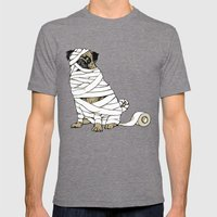 The Mummy Pug Return Mens Fitted Tee Tri-Grey SMALL