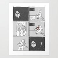 Moonbeard - Spacejailbre… Art Print