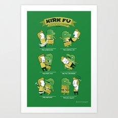 Kirk Fu Art Print