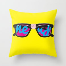Nerd Throw Pillow