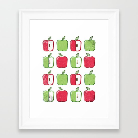 APPLE SMAPPLE DAPPLE HAPPLE PAPPLE Framed Art Print