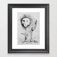 Lion Tree Framed Art Print