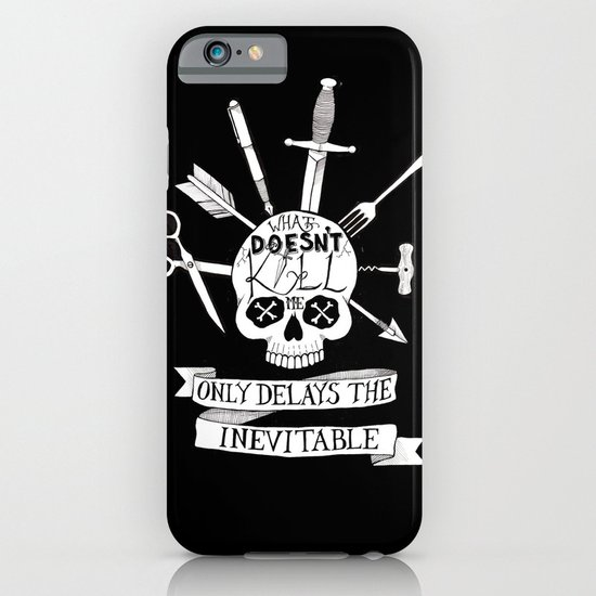 What Doesn't Kill Me - Black iPhone & iPod Case